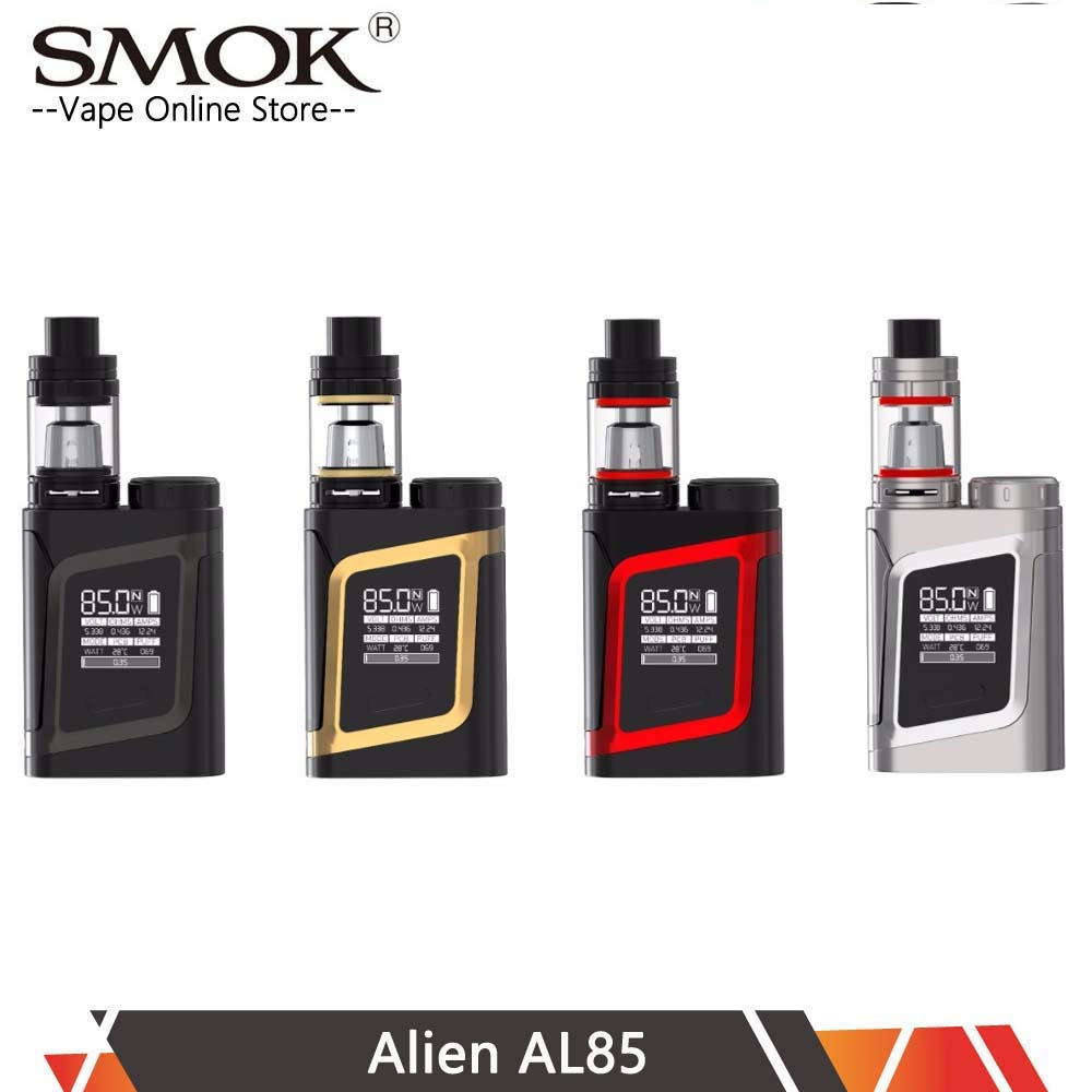 Authentic SMOK Alien AL85 Kit with TFV8 Baby TanK 3ml 85W Vape AL85 MOD vs Alien mod Vs Mag kit X-priv kit купить недорого в Москве