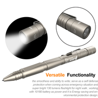 Tactical Portable Flashlight USB Rechargeable Multifunction Cree XPG2 LED Real 130LM Torch Hiking Camping Pen Light
