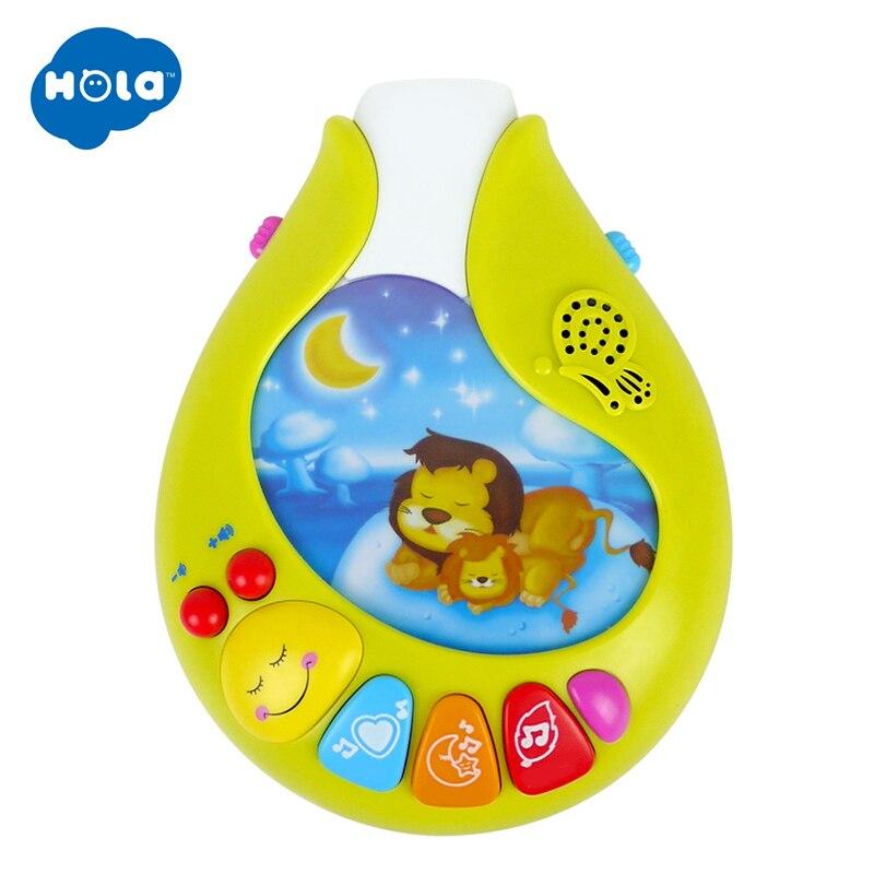 HOLA 818 bébé jouets pépinière lit Mobile avec berceuse musicale sons hochet rotatif loisirs sol lit cloche 0-12 mois - 6
