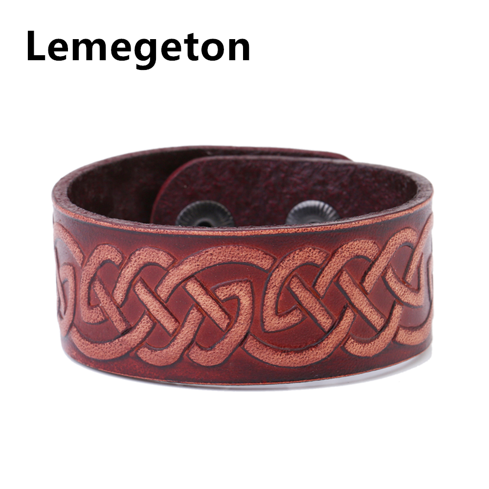 Lemegeton Red Classic Knot Leather Bracelets Boho Leather Bracelets With  Hidden Alloy Safety Clasp Women Leather