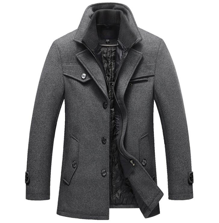 New Winter Wool Coat Slim Fit Jackets Mens Casual Warm Outerwear Jacket and coat Men Pea New Winter Wool Coat Slim Fit Jackets Mens Casual Warm Outerwear Jacket and coat Men Pea Coat Size M-4XL DROP SHIPPING