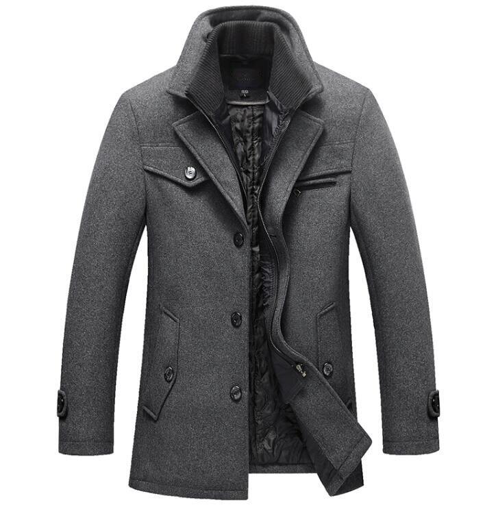 Nieuwe Winter Wollen Jas Slim Fit Jassen Heren Casual Warm Bovenkleding Jas en jas Mannen Erwt Jas Maat M 4XL DROP VERZENDING-in Jassen van Mannenkleding op  Groep 3