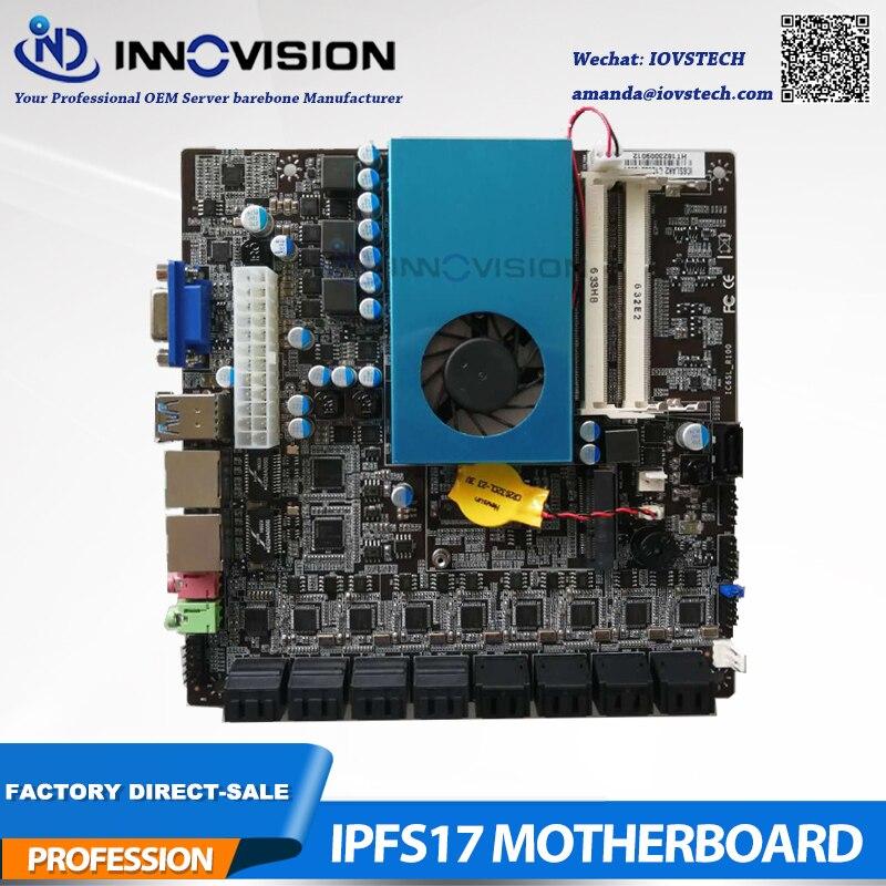 New Mini Itx BTC Motherboard 17*17 IPFS Delicated Board With Max 17SATA Ports