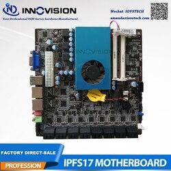 Nueva placa base mini itx BTC 17*17 tablero delicado IPFS con max 17 puertos SATA