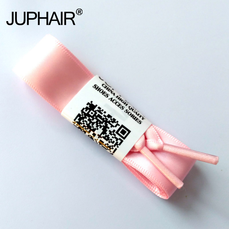 JUP 1-12 Pairs Pink Fashion Colorfu Wholesale Princess Colorful Flat Ribbon Laces Lace Sports Shoes Silk Lady Sneakers Shoelaces 5 pairs 1cm width british scotland plover grid style shoelaces canvas shoes sneakers flat shoes lace 70 80 90 100 110 120 130cm