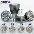 2015 New Design CREE GU10 4W/5W/6W/8W LED High Power Bubble Ball Bulb White/Warm White AC85-265V LED Spotlight Bulb Lamps