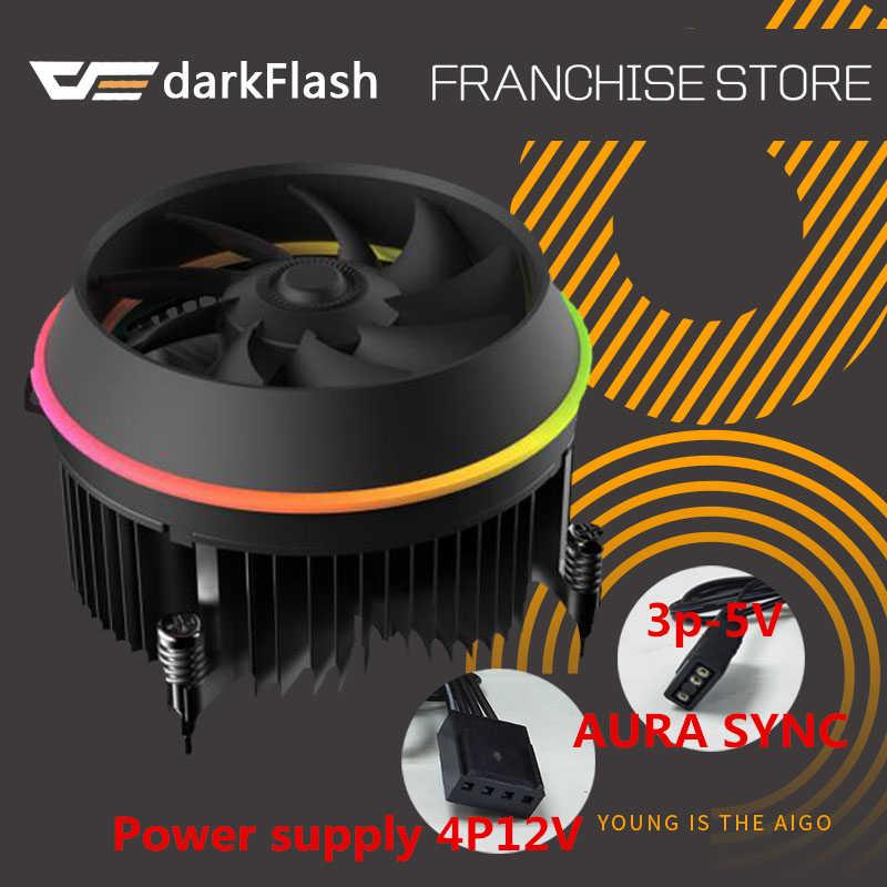 Aigo darkflash ombra CPU Cooler AURA di SINCRONIZZAZIONE 3p-5V TDP 280W PWM 4pin Doppio Anello LED RGB Ventola Del Radiatore di Raffreddamento per intel LGA 115x