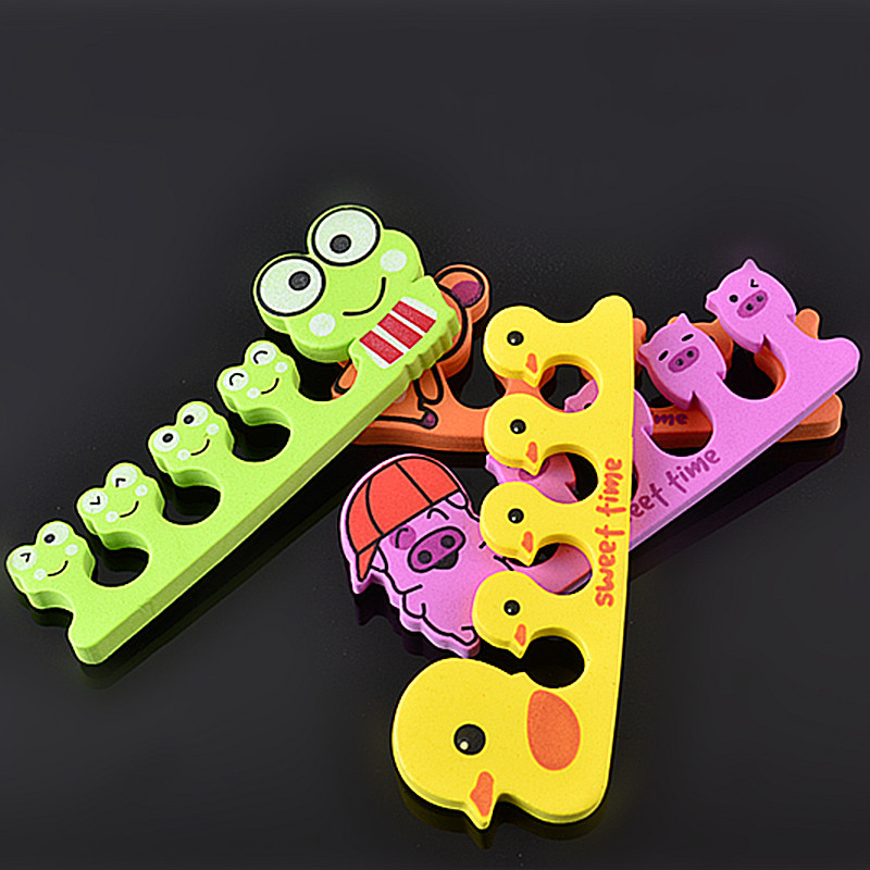 3 pcs Nail Art Toe Separators Cartoon Series Frog Pig Duck Random ...