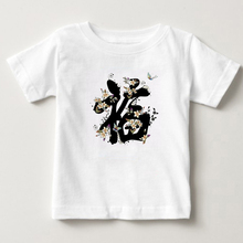 China Fu printing T-shirt children national wind boys and girls trendy summer new years blessing Tshirt