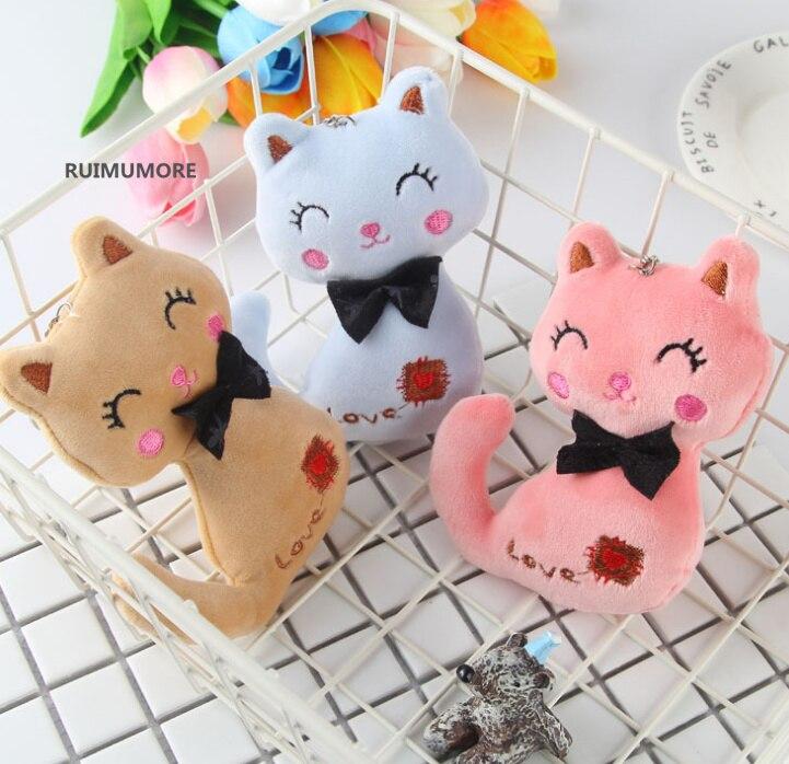 Animal Stuffed Kitty Cat Key chain TOY 7