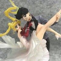 24cm Limited Zero Sailor Moon Anime Figure Chiba Mamoru masquerade Action Figure PVC masked ball Model Collection Toys Doll Gift