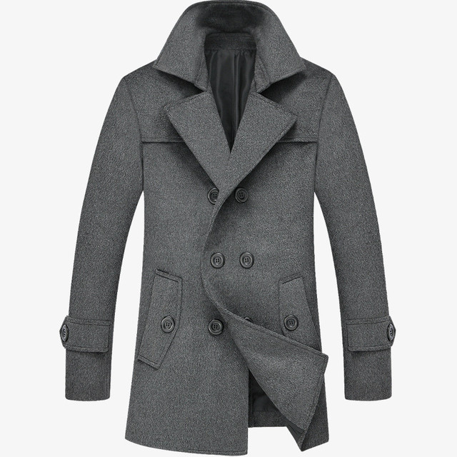 2016 New winter Men long trench coat & hoodies Men's winter coat Slim long coat male models