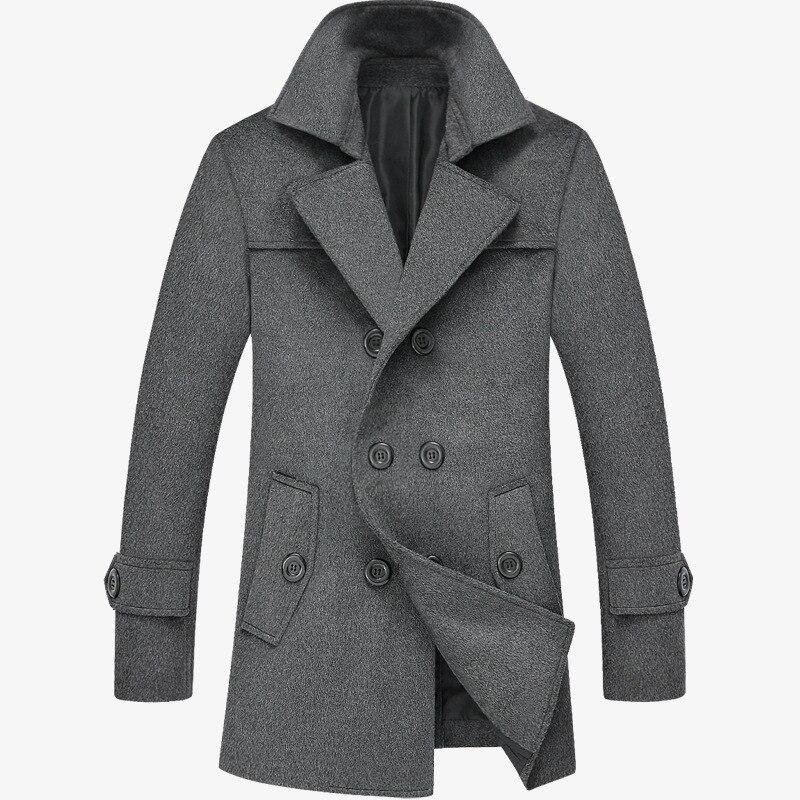 2016 Neue Winter Männer Lange Trenchcoat & Hoodies Herren Winter Mantel Schlank Langen Mantel Männliche Models Preisnachlass