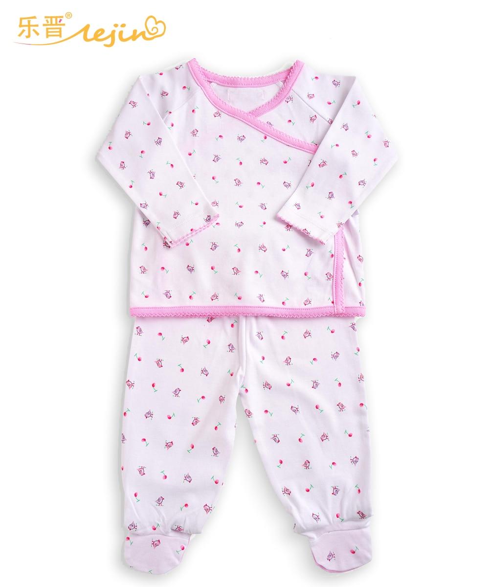 LeJin Baby Girls Clothing Set Baby Girl Set Outfit Newborn Infant Set Sleepwear in 100% Cotton Knitted
