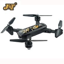 JMT DM107S Wi-fi Zangão RC Zangão Selfie Grande Angular 720 p HD FPV Quadcopter Dobrável Sem Cabeça Alta Espera Modo de Helicóptero