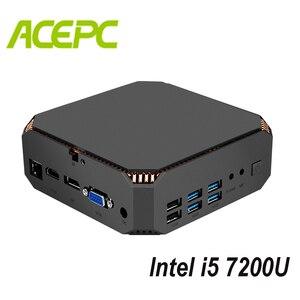 Image 1 - Fan Mini PC i5 Kaby See CPU Intel Core i5 7200U 2 kerne 4 themen 2,5 GHZ Dual Marke WIFI windows Mini Computer Desktop PC Spiel
