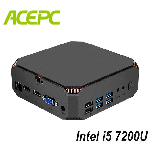 Fan Mini PC i5 Kaby See CPU Intel Core i5 7200U 2 kerne 4 themen 2,5 GHZ Dual Marke WIFI windows Mini Computer Desktop PC Spiel