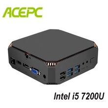 מאוורר מיני מחשב i5 Kaby אגם מעבד Intel Core i5 7200U 2 ליבות 4 אשכולות 2.5GHZ הכפול מותג WIFI windows מיני מחשב שולחני מחשב משחק