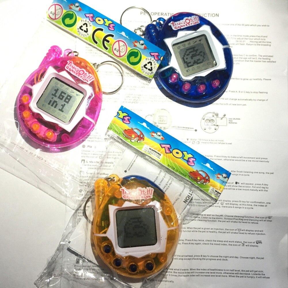 Купить с кэшбэком Hot ! Tamagotchi Electronic Pets Toys 90S Nostalgic 49 Pets in One Virtual Cyber Pet Toy Funny Tamagochi