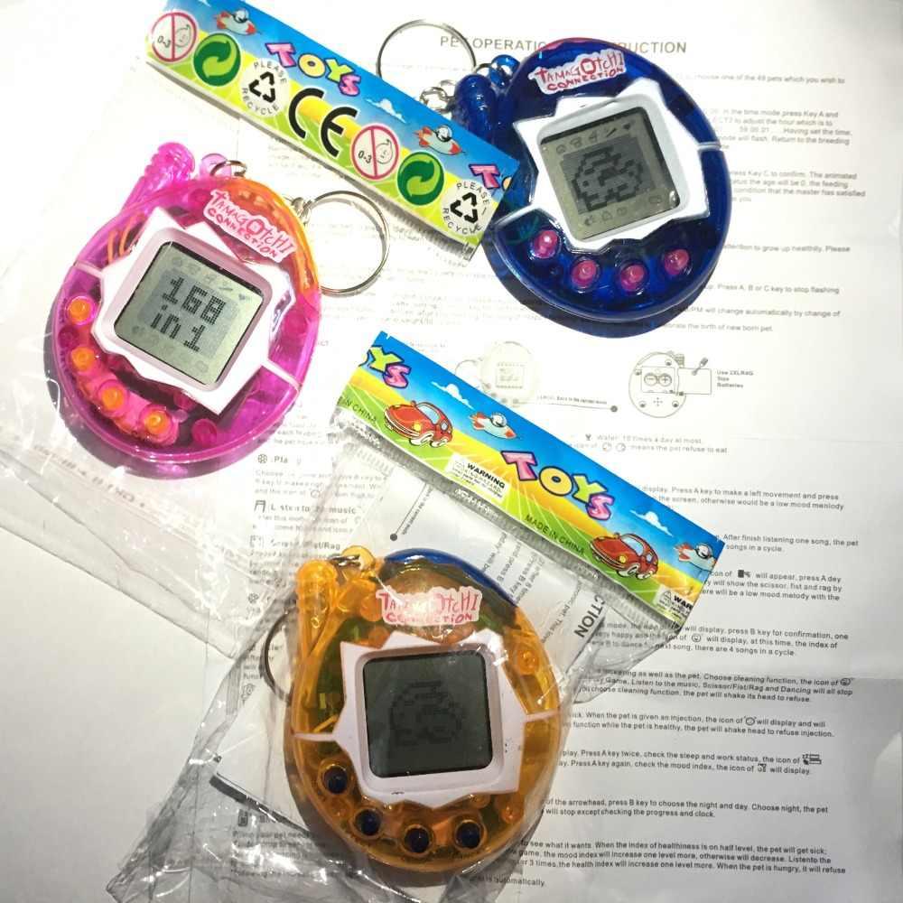 뜨거운! Tamagotchi 전자 애완 동물 장난감 90S 향수 49 애완 동물 한 가상 사이버 애완 동물 장난감 재미 Tamagochi
