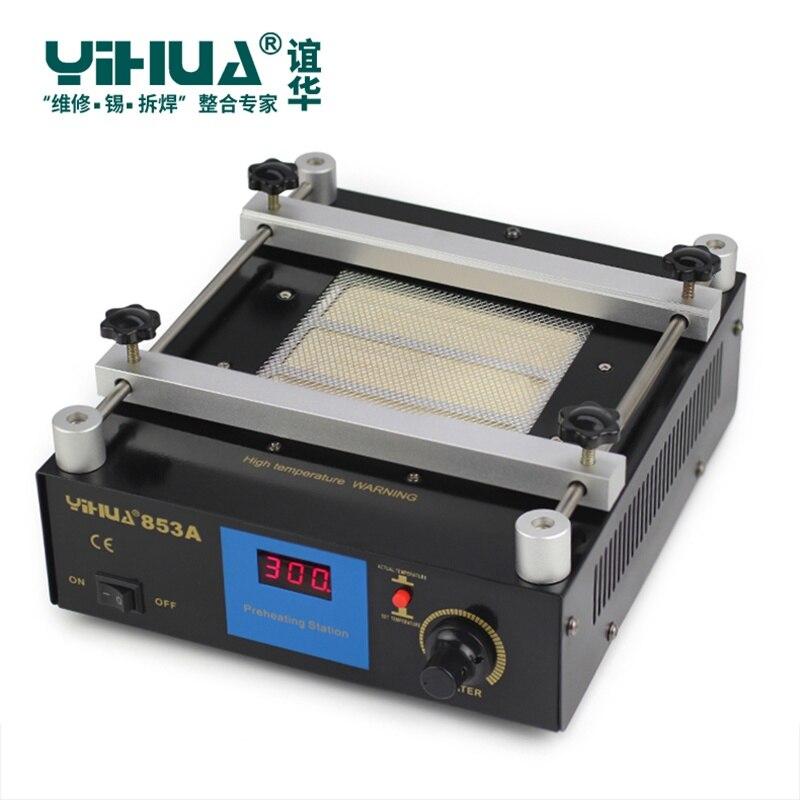 YIHUA 853A 50Hz 220 V Station de soudure de préchauffage numérique haute puissance ESD BGA Station de reprise PCB dessoudage IR préchauffage