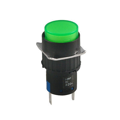 8mm Mounting Hole Neon Indicator Pilot Green Signal Light Lamp AD16-22S