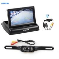 DIYSECUR Wireless 4.3 Inch Car Reversing Camera Kit Back Up Car Monitor LCD Display HD Car Rear View Camera Parking System