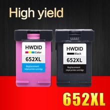 Encre pour HP cartouches 652 compatible pour HP 652 652XL Deskjet 1115 1118 2135 2136 2138 3635 3636 3835 4535 4536 4538 4675