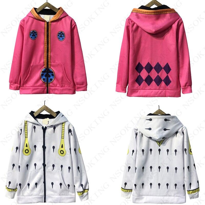 Anime JOJO s Bizarre Adventure Golden Wind hoodie cosplay Giorno Giovanna Bruno Bucciarati winter hooded zipper