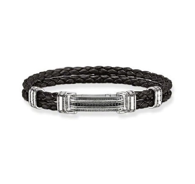Black Plaited Leather Bracelets with Folding Clasp Thomas Style Rebel And Heart Friendship Bracelet Mens Jewelry TS Gifts Bijoux