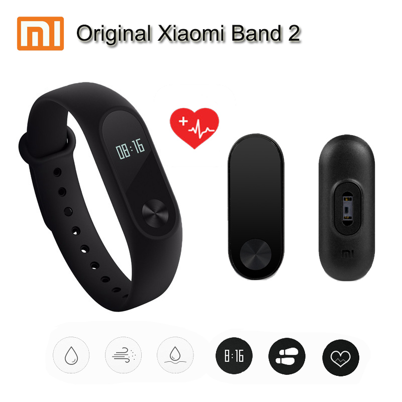 100% Original Xiaomi Mi Band 2 miband 2 Smart Mi Band OLED Display Touchpad Heart Rate Monitor Bluetooth 4.0 Fitness Tracker джинсы мужские g star raw 592677 gs g star 3301