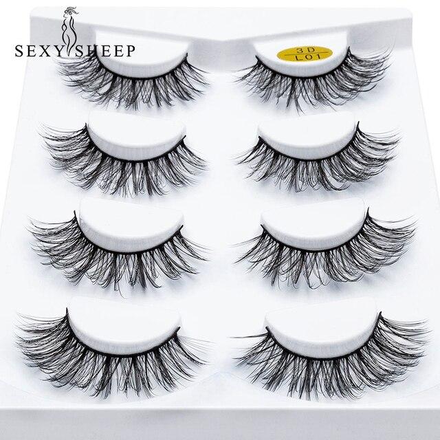 818a18b354f SEXYSHEEP 2/4 pairs natural false eyelashes fake lashes long makeup 3d mink  lashes eyelash