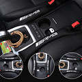 Para AMG logotipo Do Carro plugue ranhura Assento auto acessórios interiores dedicados para a Mercedes-Benz GLK GLA E Nova classe C classSlit tira