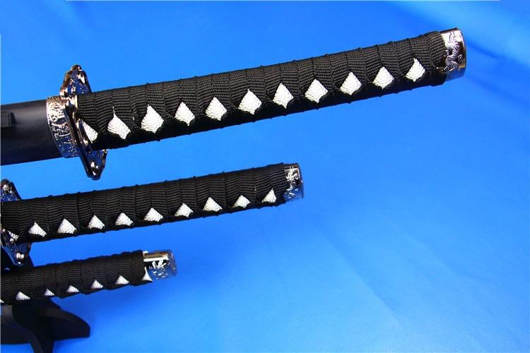 Dekorasyon kılıç siyah ejderha Cosplay sahne ile set silah katana - Ev Dekoru - Fotoğraf 4