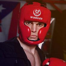 e2e501964239e Adulto ajustável Capacete Boxe Sanda Muay Thai MMA Sparring Grappling  Treinamento de Taekwondo Karate Protetor Chapelaria