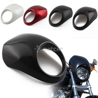 Motorcycle Front Cowl Fork Headlight Fairing Mask With Hardware Fly Screen Racer Flyscreen Visorfor For Harley Sportster Dyna