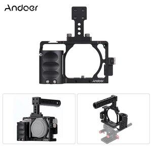 Image 4 - Andoer Video Máy Ảnh Cage + Hand Grip + Xử Lý Hàng Đầu Kit Làm Phim Hệ Thống với Cáp Kẹp đối với Sony A6000 a6300 A6500 NEX7 ILDC