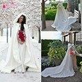 Mulheres Bolero Com Trem longo Branco Acessórios Jaqueta Casamento Bolero De Pele do Inverno Casaco De Casamento Boleros de noiva cape