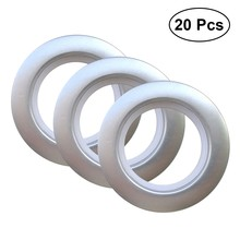 20PCS Convenient Roman Rod Curtain Low Noise Buckle Eyelet ring Accessories for Bedroom Living Room Curtain Buckle(China)