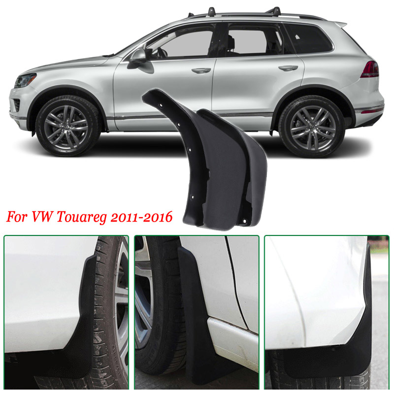 4pcs Premium Heavy Duty Molded Splash Mud Flaps Guards Fenders For VW Touareg 2011-2016 dia 200 20mm carbon graphite round plate graphite stir rod melting gold silver stirring rod graphite for mixing silver