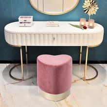 Скандинавский винтажный роскошный золотой железный металлический домашний табурет османский стул для одевания табурет для ног мягкая бархатная ткань детская кровать гостиная диван