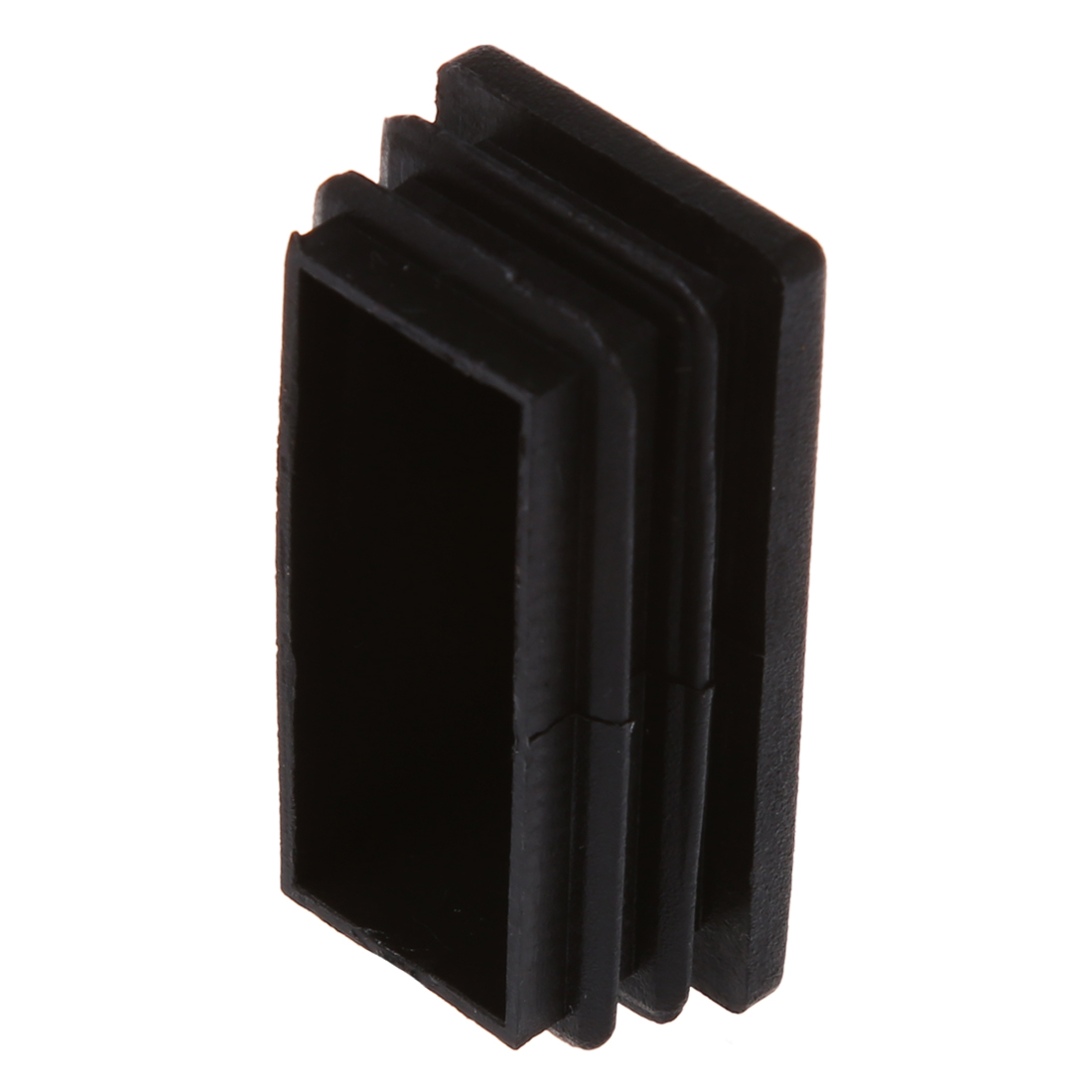 SZS Hot Plastic Rectangle Tube Inserts End Blanking Cap 25x50mm 10 Pcs Black vsen hot styleluggage bag replacement plastic 1 side rectangle buckle 10 pcs