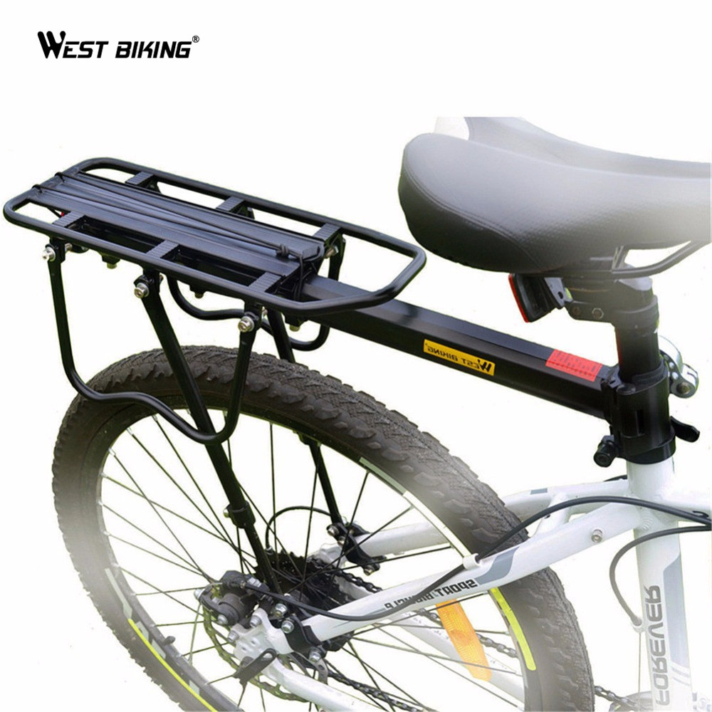 WEST BIKING Original US Brand Multipurpose Rear Carrier Rack Stacking Quick Release Seat Shelf Bicycle Load