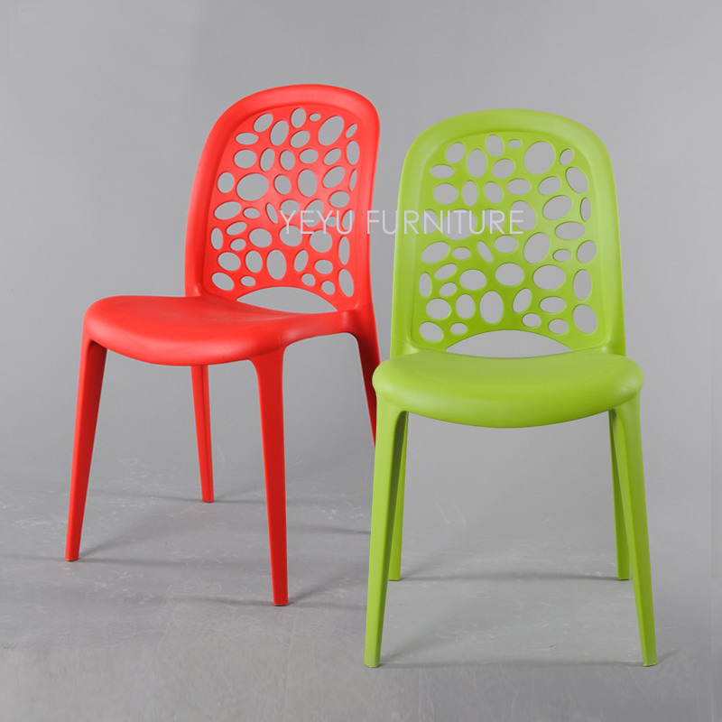 Colorful Dining Chair: Modern Design Popular Fashion Plastic Stackable Dining