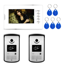 Xinsulu XSL-V70D-ID 2V1 2016 HOT Sale Two camera 7″ Handfree Video Door Phone Intercom System support ID card unlock