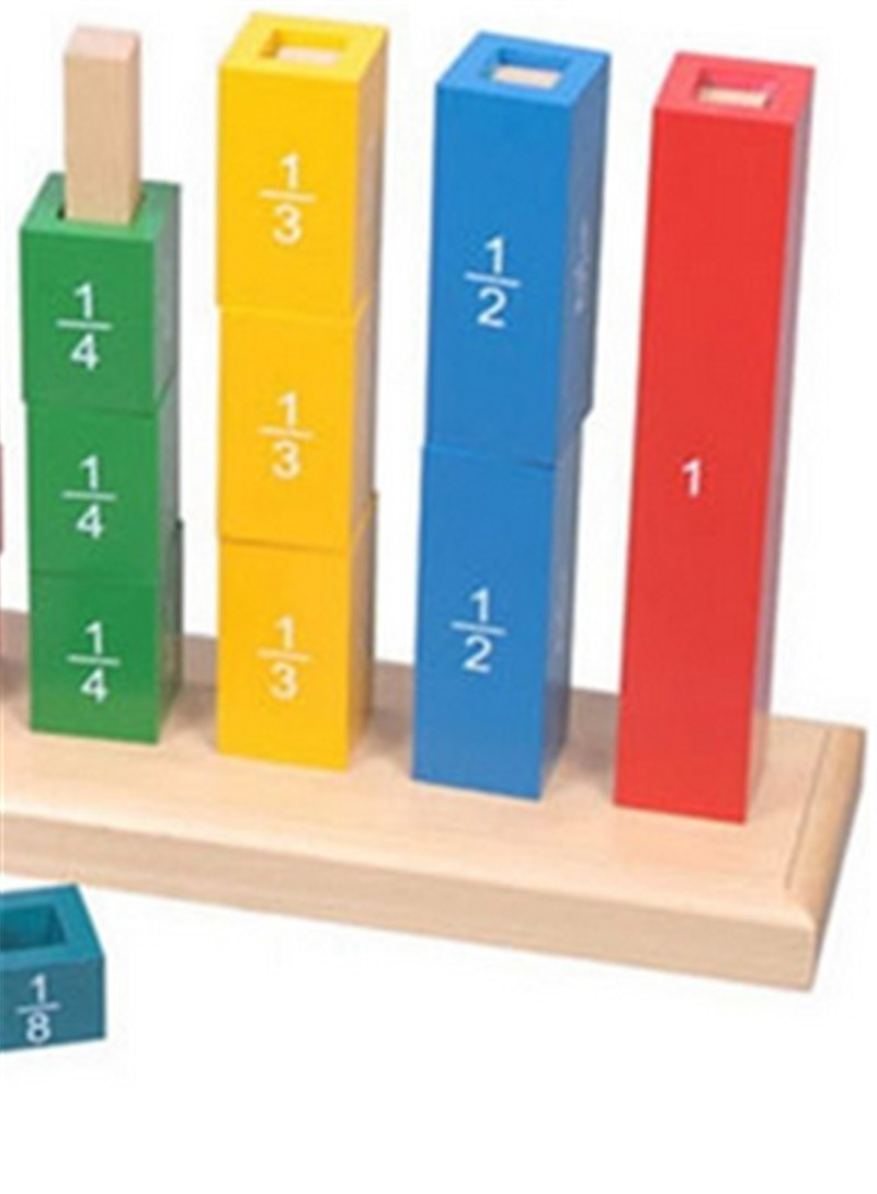 New Wooden Baby Toys Montessori  Wood Fractional Frame Learning Educational Preschool Training Baby Gifts