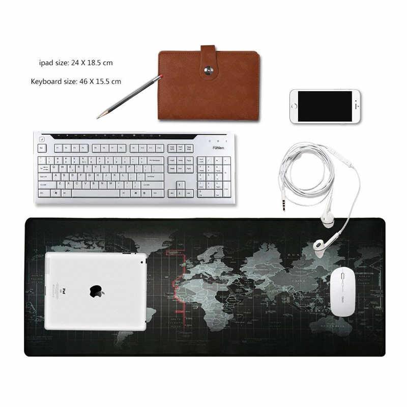 Hot Penjualan Besar Gaming Mouse Pad Peta Dunia Lama Mouse Mat Kunci Tepi Meja Tikar Non-Slip Karet Alam mousepad untuk Komputer Laptop
