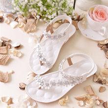 13bdc5473 2018 Bohemian sandálias sapatos verão novo flores dedo do pé das mulheres  sapatos baixos versão Coreana de sandálias flat tamanh.