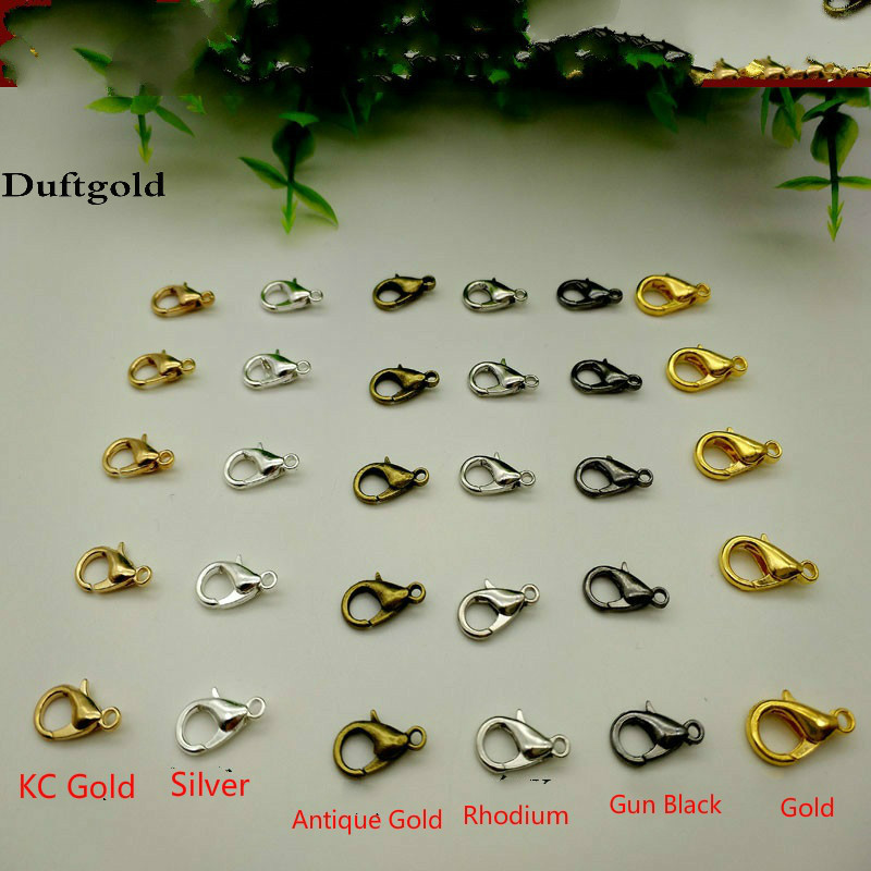 100Pcs Very Cool Metal Alloy Black Jewelry Lobster Claw Clasp Chain DIY 12//14mm