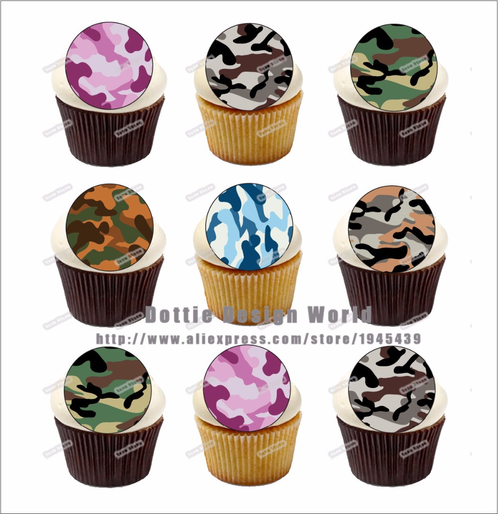 Rice Paper Cupcake Topper Edible Fairy Cake Toppers 24 German Shepherd Wafer